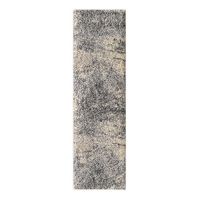 Alternate image 1 for O&O by Olivia & Oliver™ Crosby 2'2 x 7'6 Shag Runner in Grey