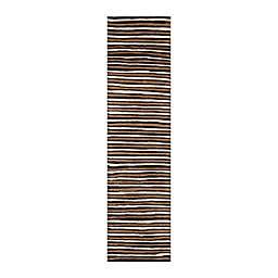 Martha Stewart by Safavieh Stewart Hand Drawn Stripe 10' Runner in Brown