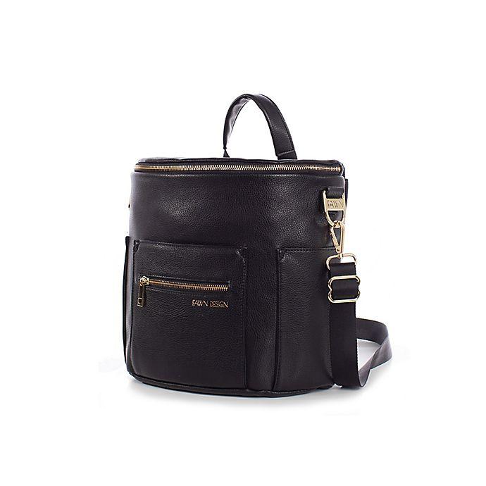 Alternate image 1 for Fawn Design The Mini Diaper Backpack in Black