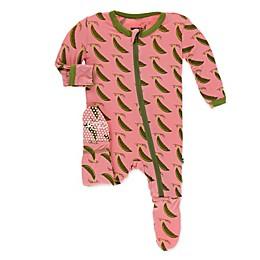 KicKee Pants® Sweet Pea Footie Pajama in Pink