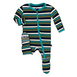 KicKee Pants® Grasshopper Footie Pajama in Blue
