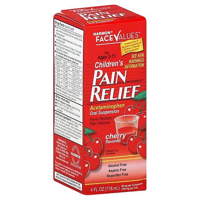 Alternate image 1 for Harmon® Face Values™ Children's 4 oz. Ibuprofen Suspension Liquid Cherry