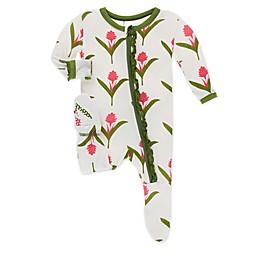KicKee Pants® Toddler Ginger Flower Footie Pajama in White