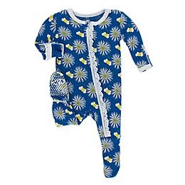 KicKee Pants® Cornflower Bee Footie Pajama in Navy
