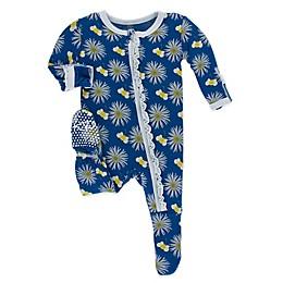 KicKee Pants® Toddler Cornflower Bee Footie Pajama in Navy