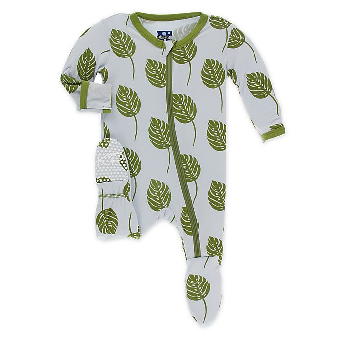 Alternate image 1 for KicKee Pants® Toddler Philodendron Footie Pajama in Purple