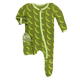KicKee Pants® Newborn Grasshopper Footie Pajama in Green