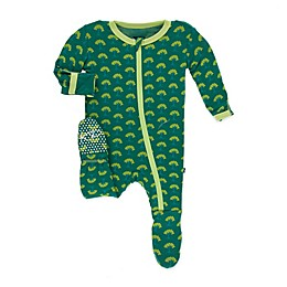 KicKee Pants® Mini Trees Footie Pajama in Green