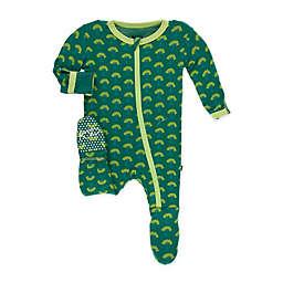 KicKee Pants® Newborn Mini Trees Footie Pajama in Green