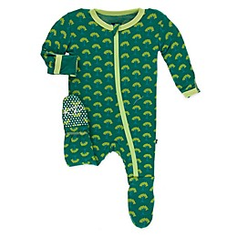 KicKee Pants® Toddler Mini Trees Footie Pajama in Green