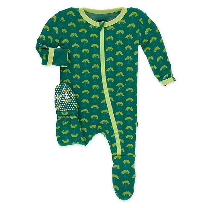 Alternate image 1 for KicKee Pants® Toddler Mini Trees Footie Pajama in Green
