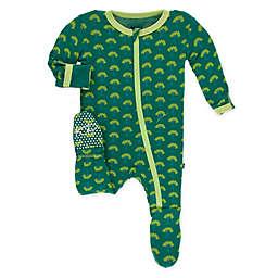 KicKee Pants® Size 12M Mini Trees Footie Pajama in Green