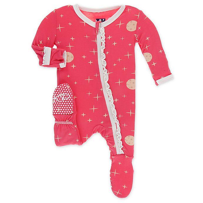 Alternate image 1 for KicKee Pants® Toddler Full Moon Footie Pajama in Red
