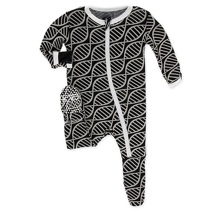 Alternate image 1 for KicKee Pants® Toddler Double Helix Footie Pajama in Midnight
