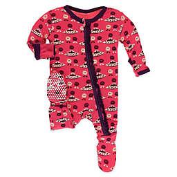 KicKee Pants® Size 3-6M Aliens Footie Pajama in Red