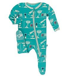 KicKee Pants® Lab Footie Pajama in Neptune