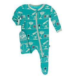 KicKee Pants® Toddler Lab Footie Pajama in Neptune