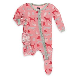 KicKee Pants® Domestic Animals Footie Pajama in Pink