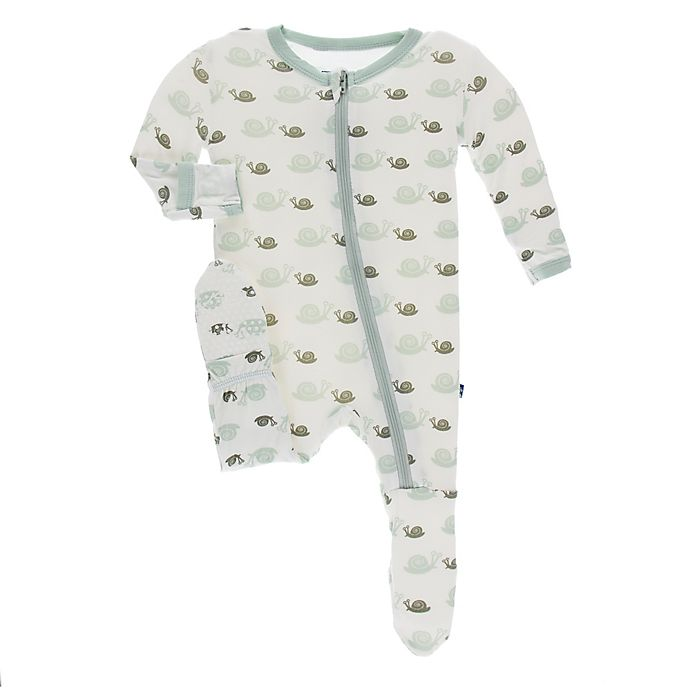 Alternate image 1 for KicKee Pants® Toddler Snails Footie Pajama