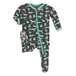 KicKee Pants® Domestic Animals Footie Pajama in Grey