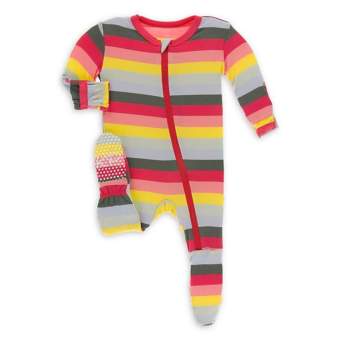 Alternate image 1 for KicKee Pants® Toddler Biology Stripe Footie Pajama