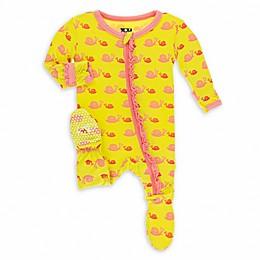 KicKee Pants® Snails Footie Pajama in Yellow