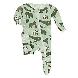 KicKee Pants® Endangered Animals Footie Pajama in Green
