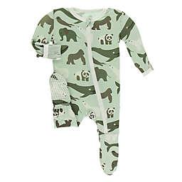 KicKee Pants® Toddler Endangered Animals Footie Pajama in Green