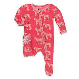KicKee Pants® Unicorn Footie Pajama in Red