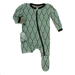 KicKee Pants® Size 6-9M Feathers Footie Pajama in Green