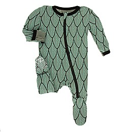 KicKee Pants® Toddler Feathers Footie Pajama in Green