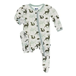 KicKee Pants® Forest Animal Footie Pajama in White