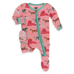 KicKee Pants® Big Cat Footie Pajama in Pink