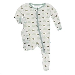KicKee Pants® Snails Footie Pajama in White