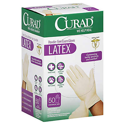 Curad® 50-Count Latex Exam Gloves