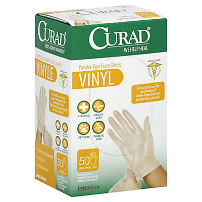 Curad® 50-Count Vinyl Exam Gloves