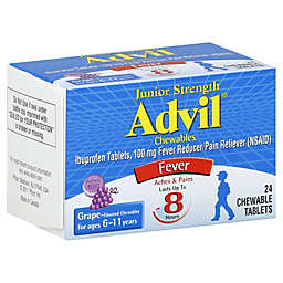 Advil® Junior Strength 24-Count Chewable Fever Reducer/Pain Reliever Tablets in Grape