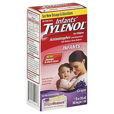 Infants' Tylenol® for Children 1 oz. Acetaminophen Oral Suspension in Grape