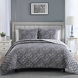Therapedic® 12 lb. Weighted 3-Piece Reversible Full/Queen Quilt Set in Grey