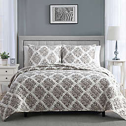 Therapedic® 8 lb. Weighted 2-Piece Reversible Twin Quilt Set in Taupe