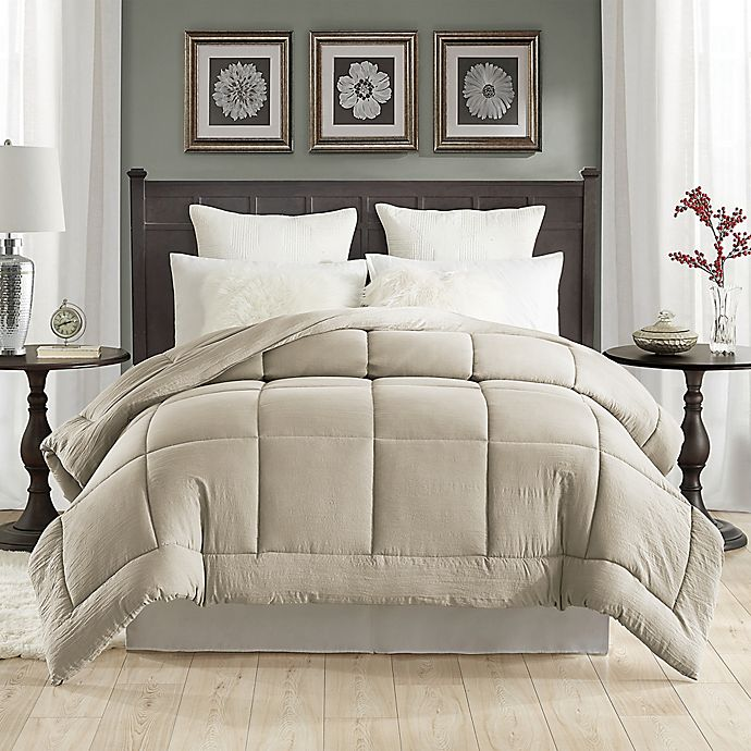 Alternate image 1 for Tahari Prewashed Down Alternative Twin Comforter in Khaki