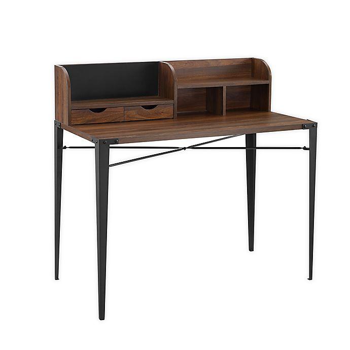 Alternate image 1 for Forest Gate Harlow Mid-Century Modern Computer Desk in Dark Walnut