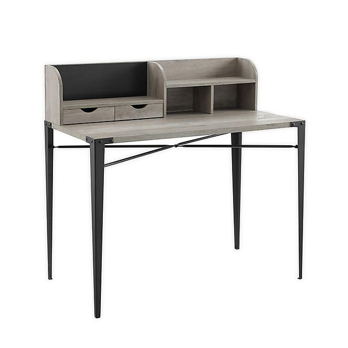 Alternate image 1 for Forest Gate Harlow Mid-Century Modern Computer Desk in Slate Grey