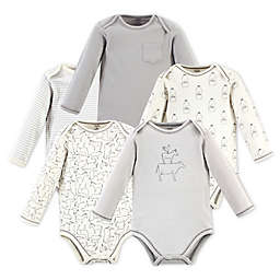 Touched by Nature 5-Pack Long Sleeve Organic Cotton Bodysuits