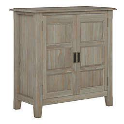 Simpli Home Burlington Low Storage Cabinet in Distressed Grey