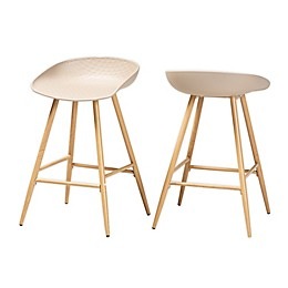 Baxton Studio® Darnell Counter Stools in Beige (Set of 2)
