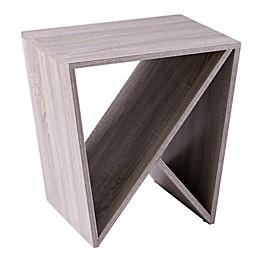 Southern Enterprises Bullingdon Geometric Side Table in Gray