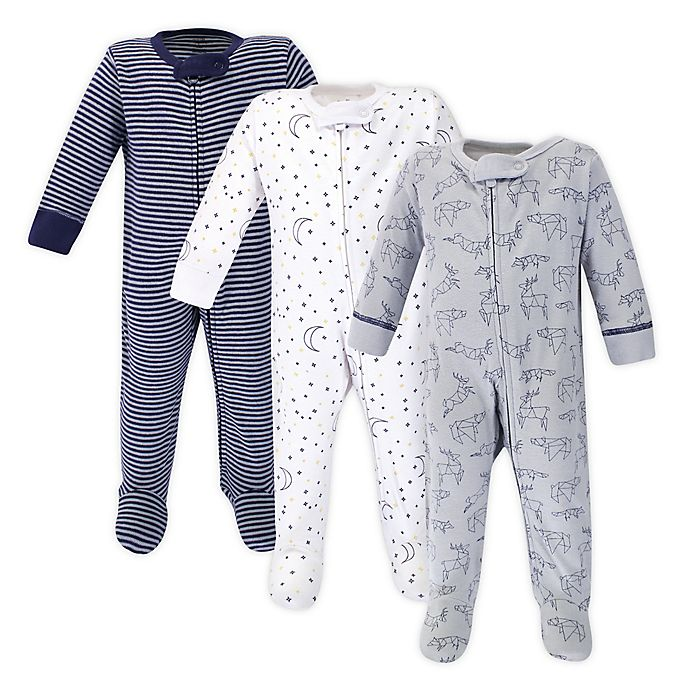 Alternate image 1 for Touched by Nature® 3-Pack Organic Cotton Sleep 'N Plays