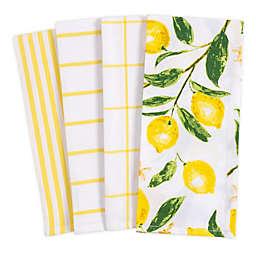 KAF Home Pantry Lemons All Over Cotton Dish Towels (Set of 4)