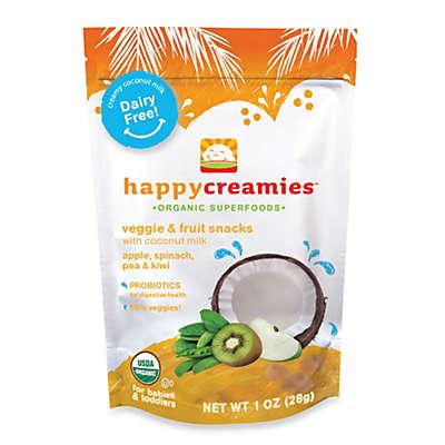 Happy Baby™Happy Creamies™ 1 oz. Organic Dairy-Free Snack in Apple, Spinach, Pea & Kiwi